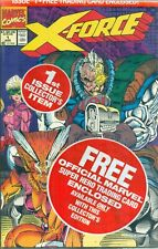 X-Force #1 By Liefeld Cable Card Negative UPC Variant A Domino Deadpool NMM 1991