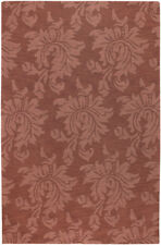 """Surya Pink 3 x 8 Wool Floral Contemporary Runner Area Rug - Approx 2' 6"""" x 8'"""
