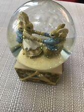 More details for musical lullaby bunny glitter water globe alphabet design bunny family 15cm