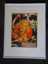 """Lithographie , Mimmo Rotella , """" Marilyn Monroe """" Tirage 300 Ex"""