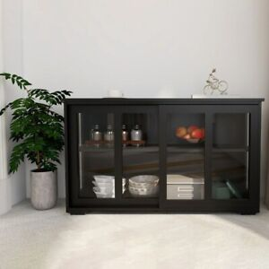 Kitchen Furniture Kitchen Cabinet oak solid wood high storage cabinet Blackshine