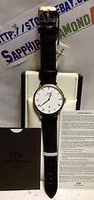 Daniel Wellington Men's 38mm DAPPER YORK Leather Watch DW00100085 NEW $349.00