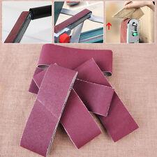5x 75mm Abrasive Sanding Belts Polishing Sandpaper 60 80 100 120 240 Grit Sander