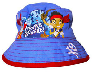 New Official Disney Jake And The Neverland Pirates Blue Bucket Hat Age 1-3 Years