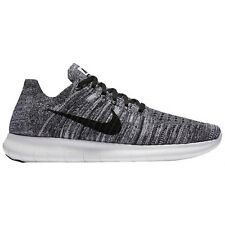 "Men's Nike Free RN Flyknit Black White ""Oreo"" Uk Size 8 831069-100"