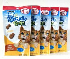 5 Bags Purina Kit & Kaboodle 4 Oz Crunchy Chicken & Cheddar Cheese Cat Treats