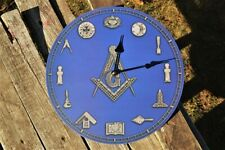 Masonic Square and Compasses Wall Clock - Lodge  - Mason - Freemasons - Tools