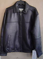 NWT $475 BOSTON HARBOUR Mens M LEATHER BOMBER Jacket BLACK Coat 110235