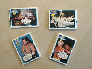 Wacky Wrestling Full Set Of 66 Trading Cards - Topps 1993