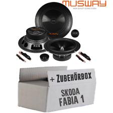 Musway Lautsprecher für Skoda Fabia 1 6Y Front Tür Boxen 16cm PKW Auto Einbauset