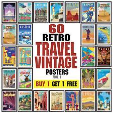 Vintage Travel Poster, Retro Wall Art Deco posters, Vol. 1