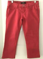 Guess Women's size US27 Jeans Capri Raspberry Tapered Leg Pocket Embellishment