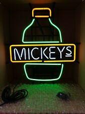 NIB Beer LIGHTED SIGN NEON Tube LIGHT ADVERTISING Miller MICKEYS Malt Liquor