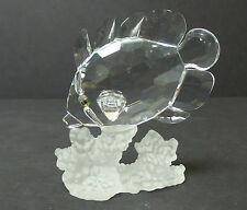 "BEAUTIFUL SWAROVSKI CRYSTAL ""BUTTERFLY FISH / 666567"" FIGURINE, RETIRED"