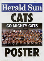 Geelong Football Club Poster Go Mighty Cats 2004 Club AFL Footy Poster Mint