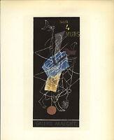 1959 Mini Poster Lithograph ORIGINAL Print Georges Braque Sur Quatre 4 Murs