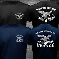 New France Troupes de Montagne Chasseurs Alpins Mountain Brigade Army T-shirt