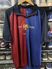 Nike FC Barcelona Centenary Home Jersey / Shirt 1998-99 sz L Total 90 BNWOT
