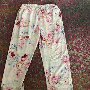 Peter Alexander Pyjama Bottoms, Pants, Pink Floral, 2+, 20/22 Plus