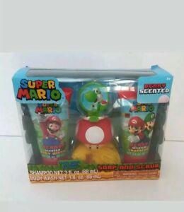 Super Mario Soap And Scrub with Yoshi bath Hook Sticks to Tile