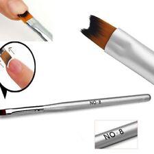 Tips Makeup Brush Silver Gel Art Design Tool Acrylic Nail Painting Manicure