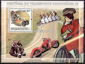 Mozambique 2009 Road transport History Motorcycle Bicycle Scooter Cart m/s MNH