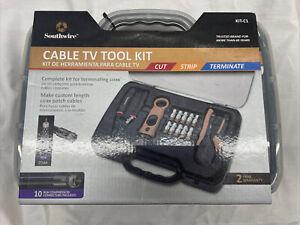 Southwire Cable TV Tool Kit Coax Termination Set Plastic Case, KIT-C1, NIB!