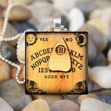 Ouija Monogram Pendant, Necklace - Occult,Halloween, Ouija Board Tile Pendant