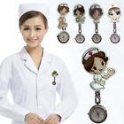 New Cartoon Pocket Nurse Watch Fobwatch Clip-on Fob Tunic Medical Brooch Quartz