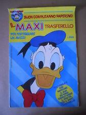 Poster MAXI TRASFERELLO Paperino - Suppl. Tutto Transfer n°7 1984 D [G461] BUONO