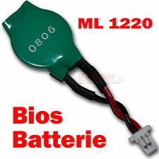 Portátil Notebook BIOS batería ml 1220 CMOS accu 3v recargable cable ml1220