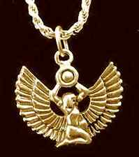 LOOK Isis Goddess Egypt Gold Vermeil Silver Egyptian Charm