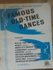 Sheet Music Famous Old Time Dances by Chappell.