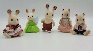 Lot of 5 Calico Critters Animals Bunny & Mice  Rare Fairy Costume.