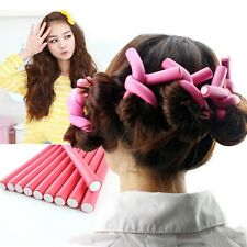 amusing 10 pieces Hair Curling Flexi rods Air Hair Roller Curler Bendy FHL ZMFin