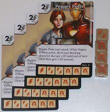 4 X PEPPER POTS PERSONAL SECERETARY OF TONY STARK 59 Age Of Ultron Dice Masters