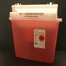 Covidien Sharpsafety Sharps Container Biohazard Needle Disposal 5qt Full Alert