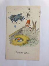 """ FETES DE PAQUES,POULE / VOLAILLE,nains,lapin,oeufs "" 1918 ,V.schreitter"