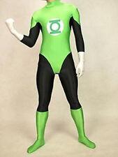 lycra spandex zentai superhero costume green lantern S-XXL