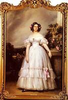 """Oil franz xavier winterhalter - h.r.h princess marie clementine of orleans 36"""""""
