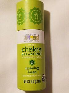 Aura Cacia Opening Heart Pure Essential Oils Chakra Balancing Roll-On .31 fl oz