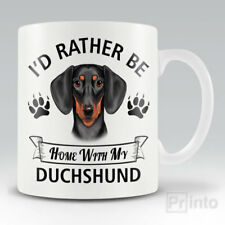 I'D RATHER BE HOME WITH MY DUCHSHUND Funny mug, novelty cup | dog lover gift