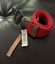 Nwt Polo Ralph Lauren Canvas D-Ring Belt Mens Size Small 30-34 Inches Red G10