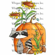 Fall Friends Autumn, Unmounted Rubber Stamp Whipper Snapper Designs - New, CZ259