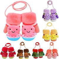 Infant Cute Cartoon Winter Warm Soft Gloves Mittens For Kids Baby Child Toddler