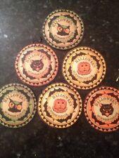 Bethany Lowe Halloween Teddy Mummers Ornaments--Set of 6--Retired