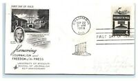 FDC 1958 4c #1119 Journalism & Freedom of the Press, Columbia MO A3