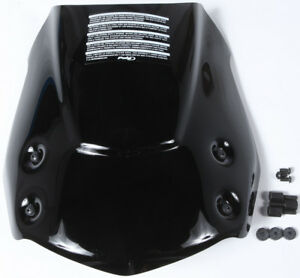 "Black /""New Gen/"" Windscreen w// Bracket Puig 5051N For 09-14 BMW F800R"