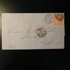 GRANDE BRETAGNE GB N°25 4d RED LETTRE COVER 1966 LONDON TO DUNKERQUE FRANCE