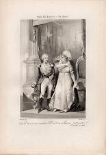 1862 – MARIA TERESA D'AUSTRIA E VITTORIO EMANUELE I – SAVOIA INCISIONE ORIGINALE